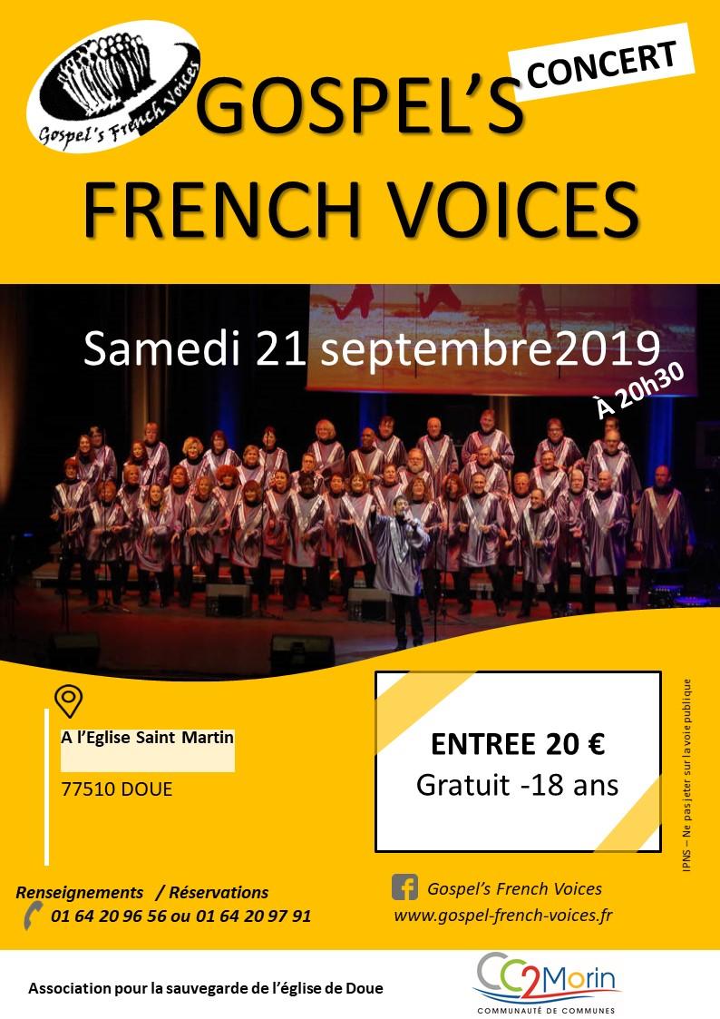 Concert : Samedi 21 Septembre 2019
