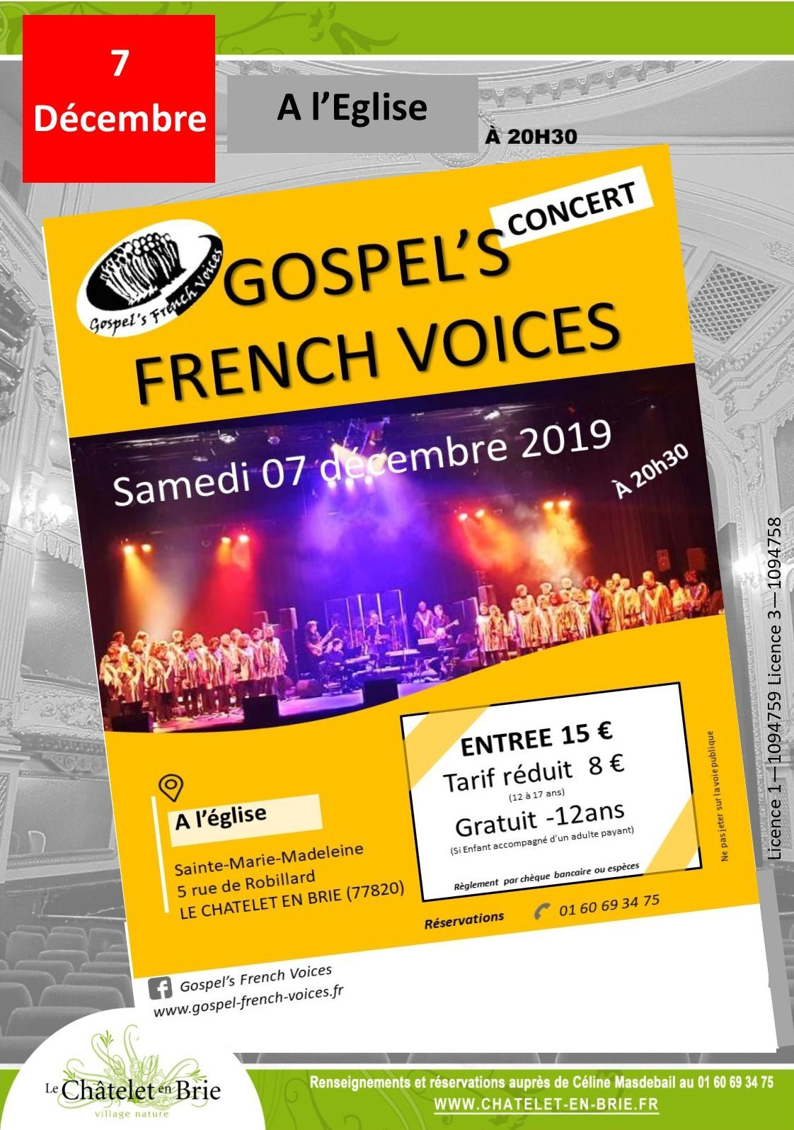 Concert : Samedi 07 Décembre 2019